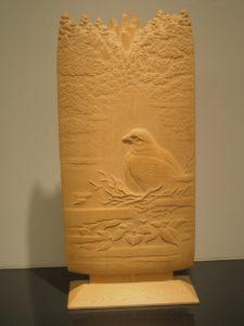 井波彫刻注文制作の木彫インテリア「鷹」
