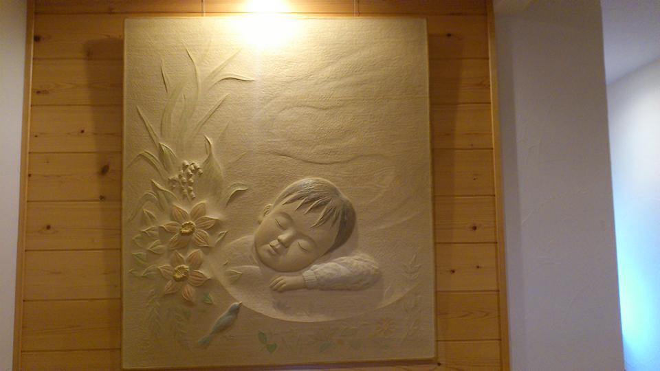 井波彫刻オーダーメイドの木彫レリーフ 子供