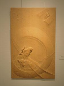 井波彫刻注文制作の木彫レリーフ