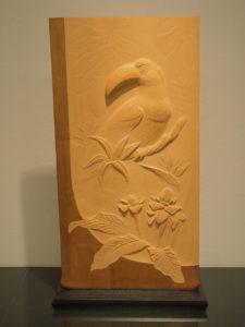 井波彫刻オーダーメイドの木彫インテリア「オオハシ」