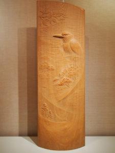 注文の木彫レリーフ