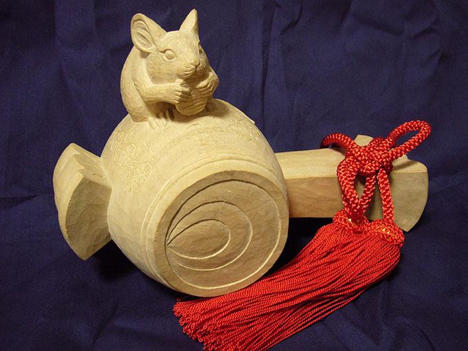 オーダーメイドの井波彫刻打ち出の小槌