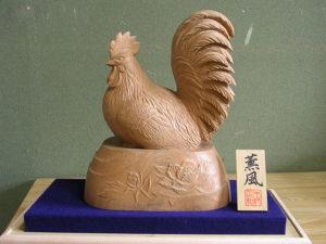 オーダーメイドの井波彫刻 鶏
