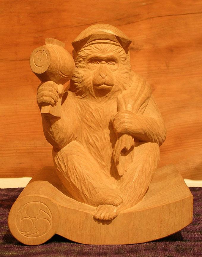 井波彫刻の猿