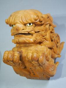 受注制作の木鼻 獅子
