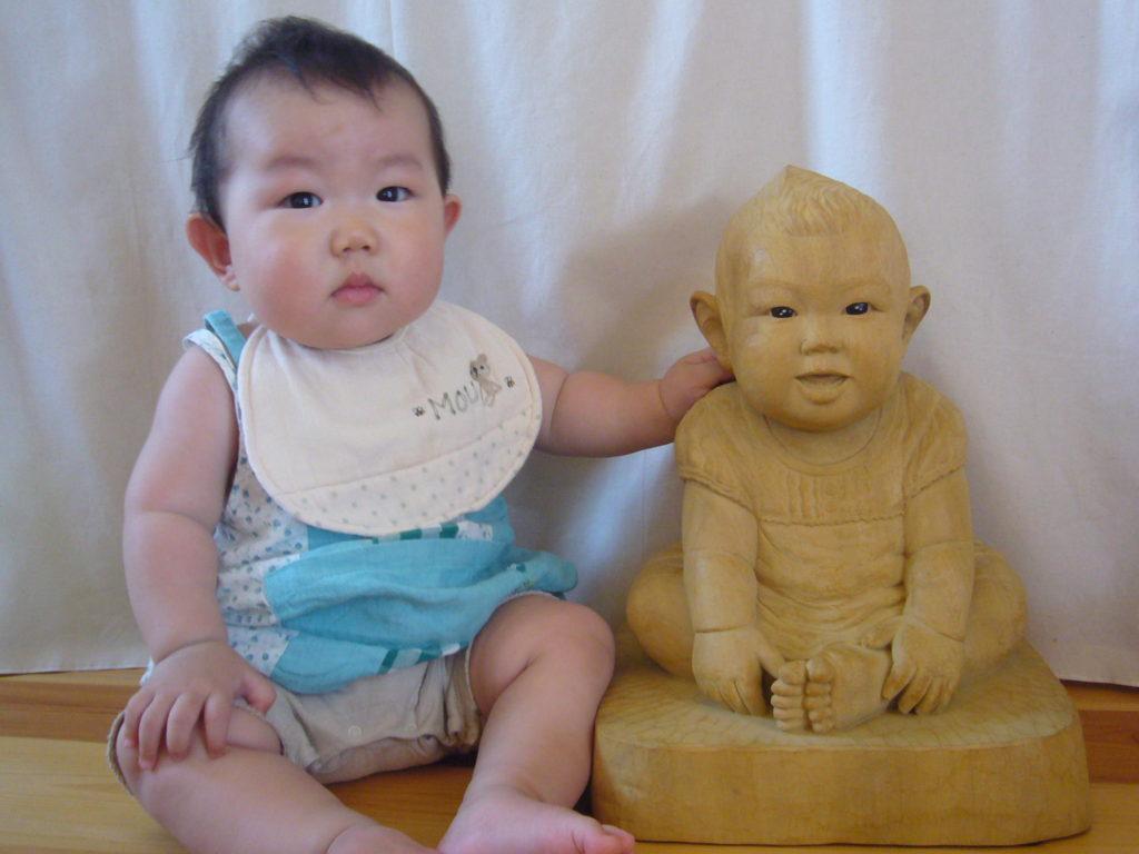 オーダーメイドの井波彫刻 木彫りそっくり人形