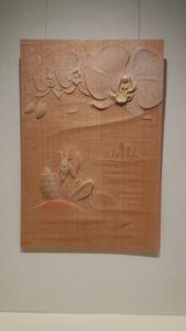 井波彫刻オーダーメイドの木彫レリーフ胡蝶蘭