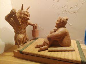 オーダーメイドの井波彫刻木彫 なまはげ