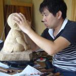 オーダーメイドの井波彫刻の木彫り制作風景