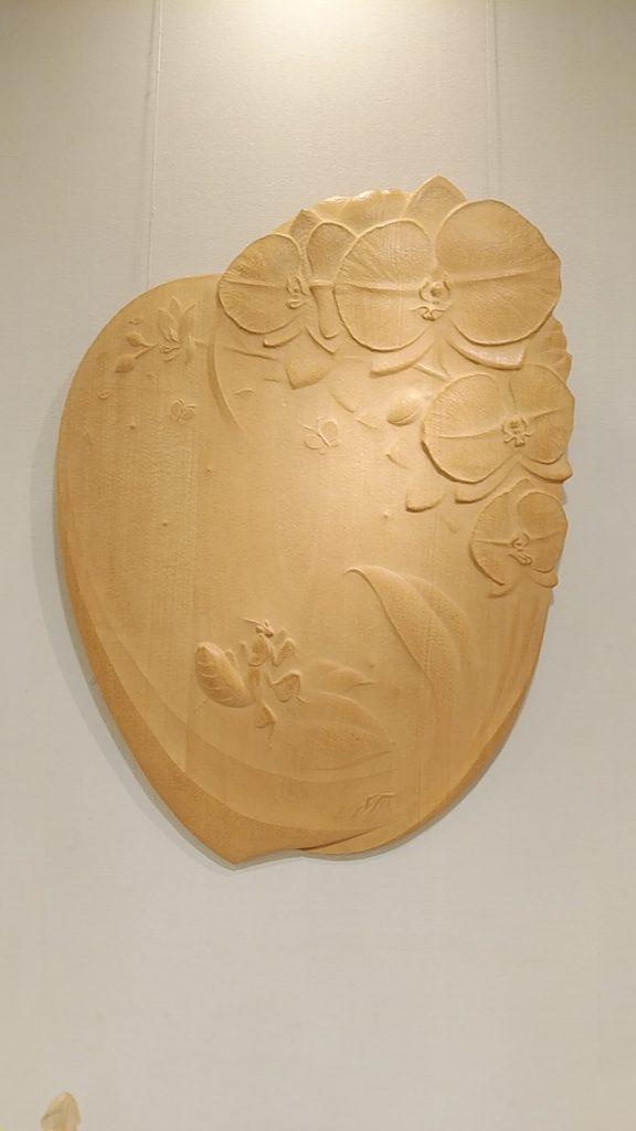 オーダーメイドの木彫レリーフ 胡蝶蘭