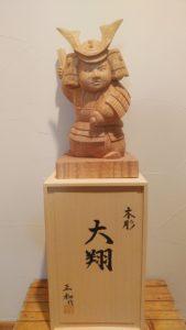 井波彫刻木彫武者人形 オーダーメイド