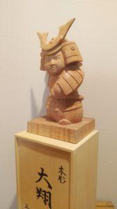 オーダーメイドの井波彫刻木彫武者人形