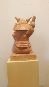 オーダーメイドで井波彫刻木彫り武者人形