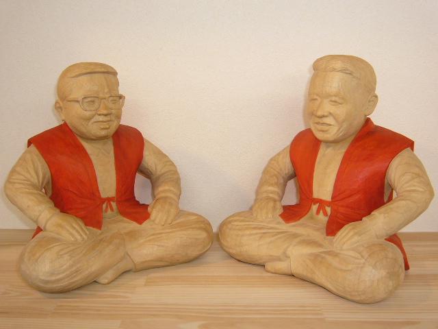 オーダーメイドのそっくり木彫還暦祝い