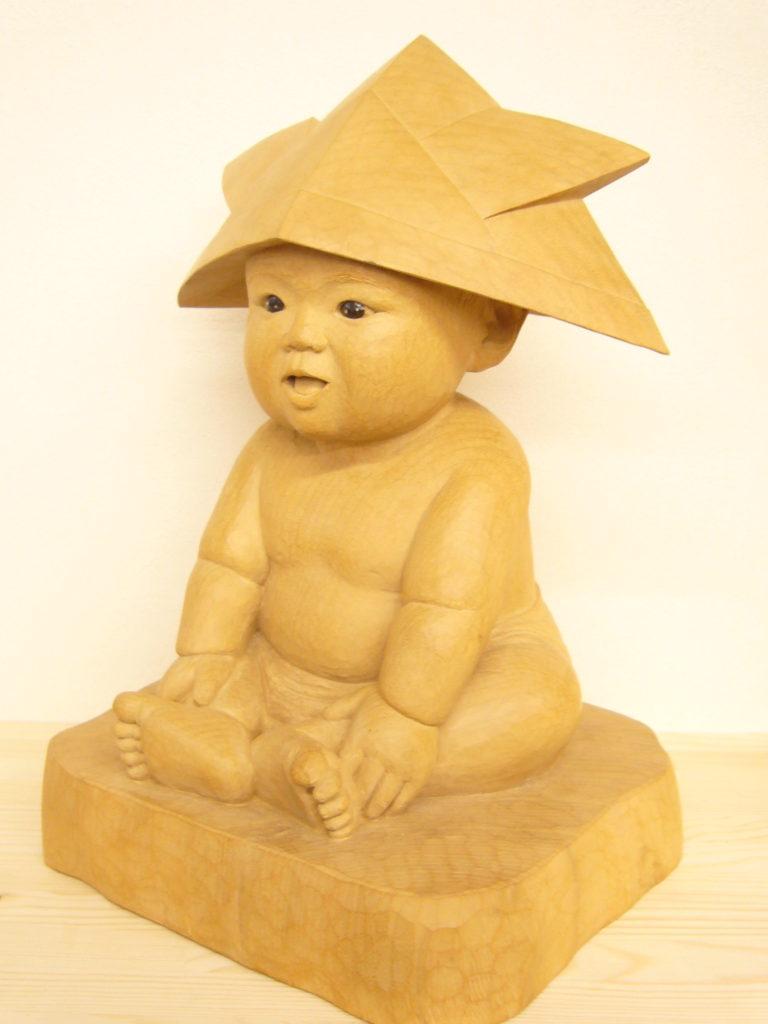 オーダーメイドのそっくり木彫人形