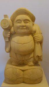 注文制作の木彫り大黒様