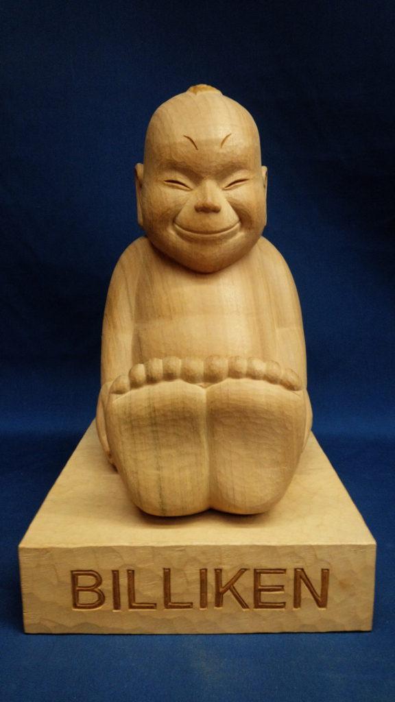 オーダーメイドの木彫ビリケン井波彫刻