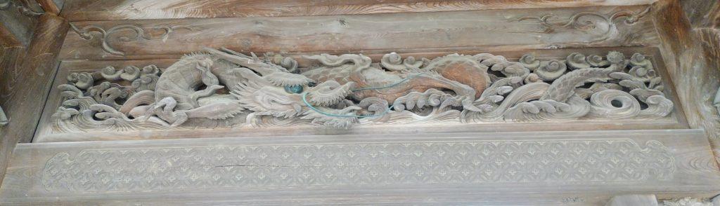 井波彫刻 木彫作品 雲水龍