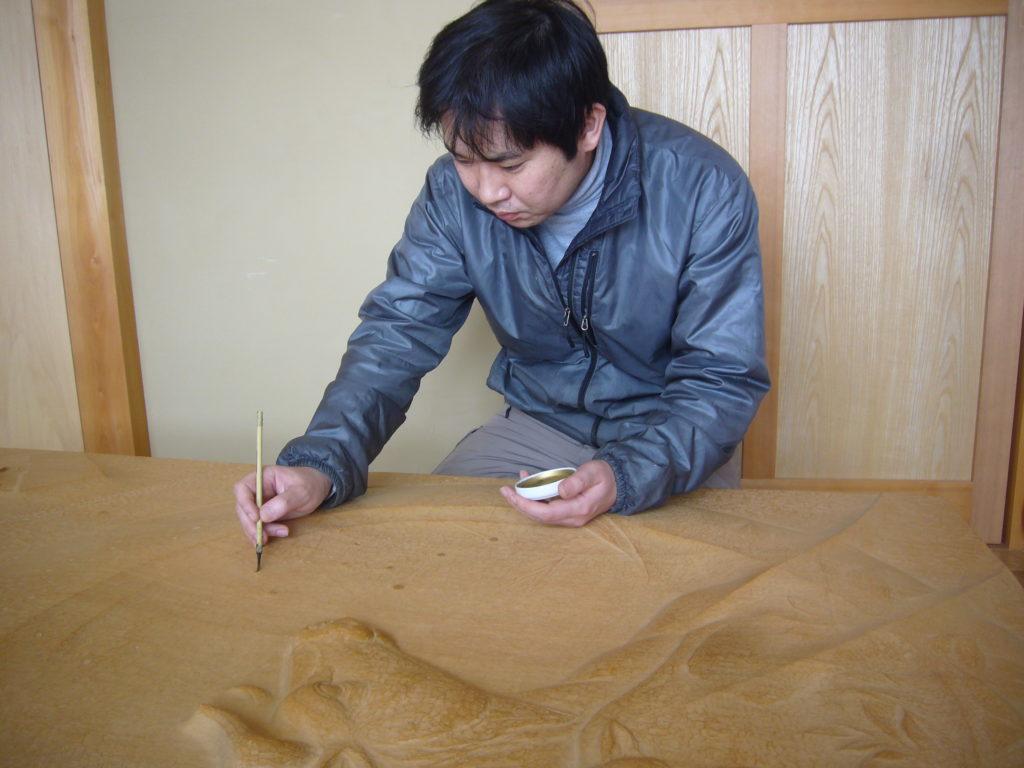 オーダーメイドで井波彫刻木彫りレリーフ