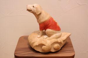 木彫,オーダーメイド、犬