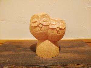 木彫のフクロウ
